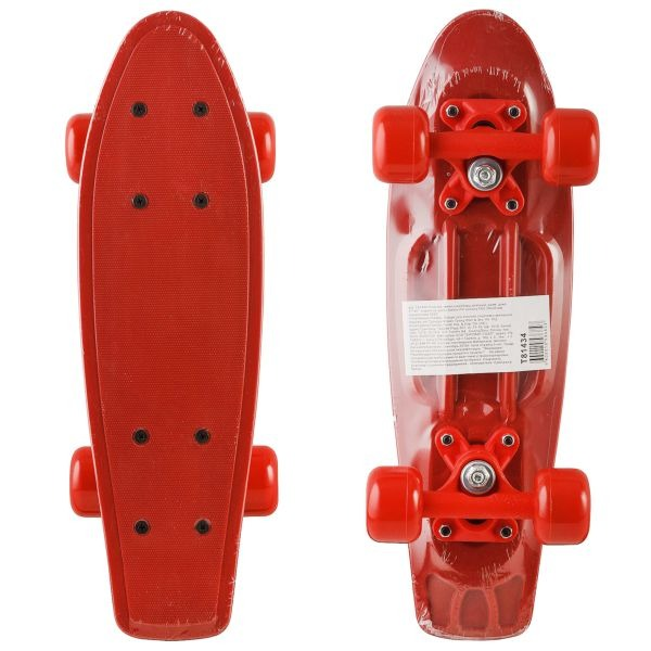 d199e413f35ecd Пластик. мини скейтборд красный, разм. деки 17