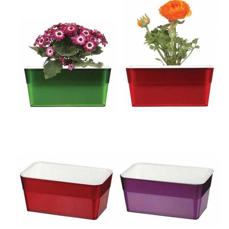 Прямоугольные пластиковые горшки для цветов